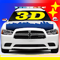 Toddler 3D Kids Car Toy Police icon