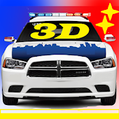 Toddler 3D Kids Car Toy Police