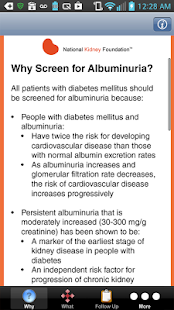 Screening for Albuminuria- screenshot thumbnail