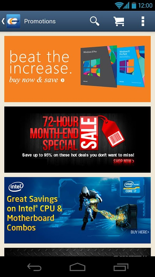 Newegg Mobile - screenshot