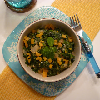 Bredo Spinach Stewed in Coconut Milk.