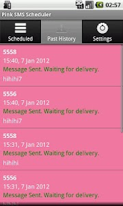 Pink SMS Scheduler screenshot 3