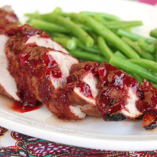 Roasted Pork Tenderloin with Plum Sauce.