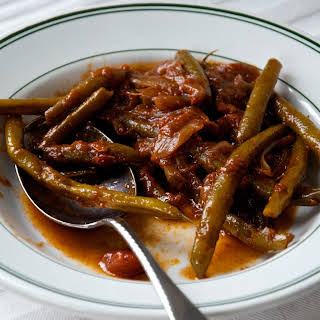 Middle-Eastern Slow Cooked Green Beans.