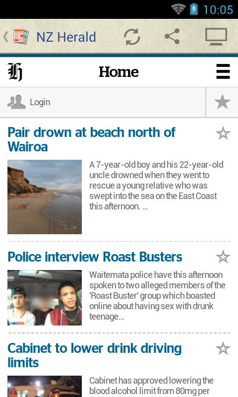 New Zealand Newspapers - screenshot