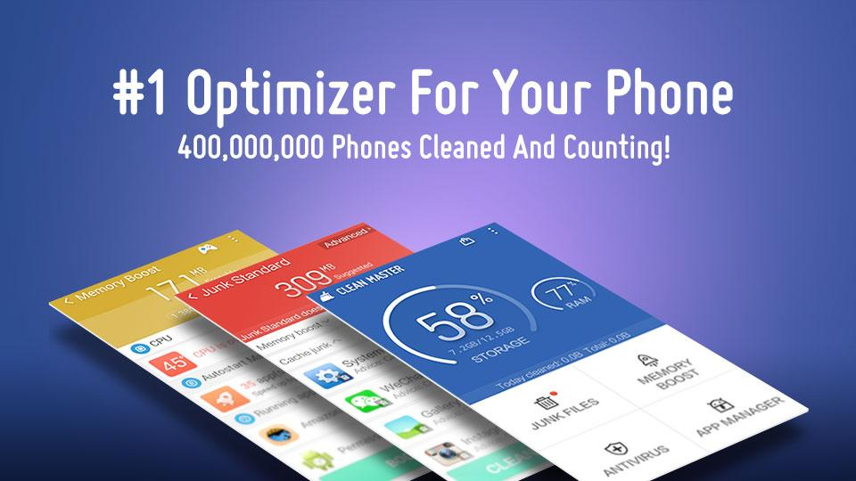 CleanMaster application for Android