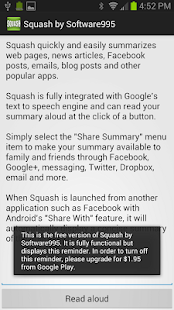 Squash -Text Summarization App- screenshot thumbnail