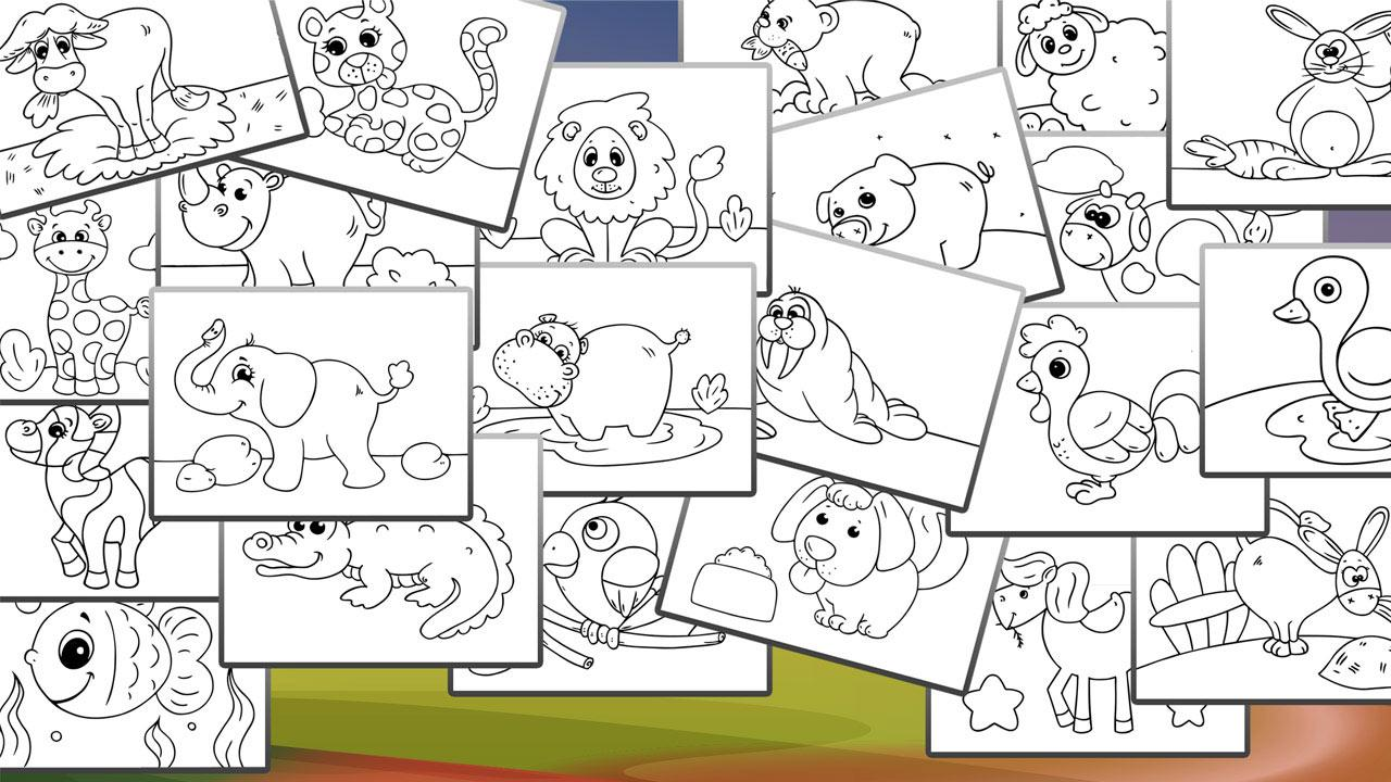 animals coloring book for kids screenshot - Kids Paint Book