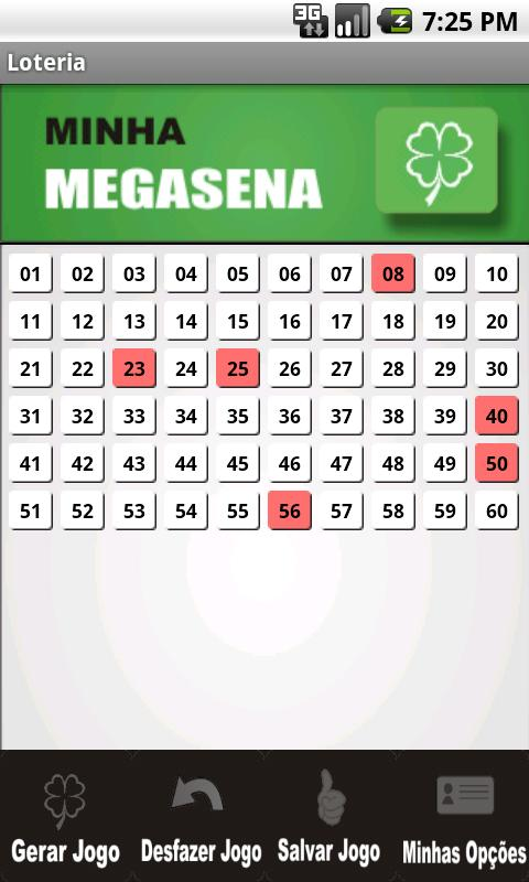 Minha Loteria- screenshot