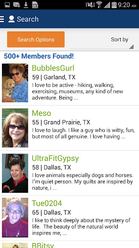 Senior People Meet Dating App  screenshots 4