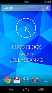 JellyBean 4.2 clock widget! - screenshot thumbnail