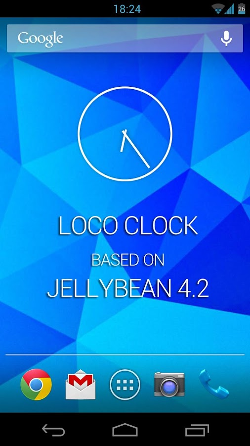 JellyBean 4.2 clock widget! - screenshot