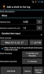 AlcoDroid Alcohol Tracker - screenshot thumbnail