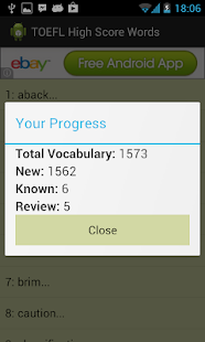 TOEFL High Score Words - screenshot thumbnail