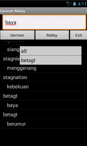 German Malay Dictionary