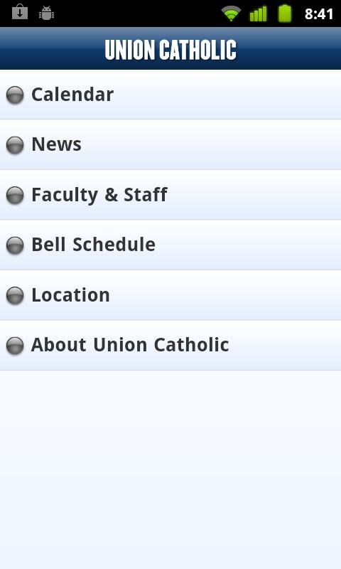 Union Catholic High School - screenshot