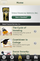 Screenshot of Steele Financial Services