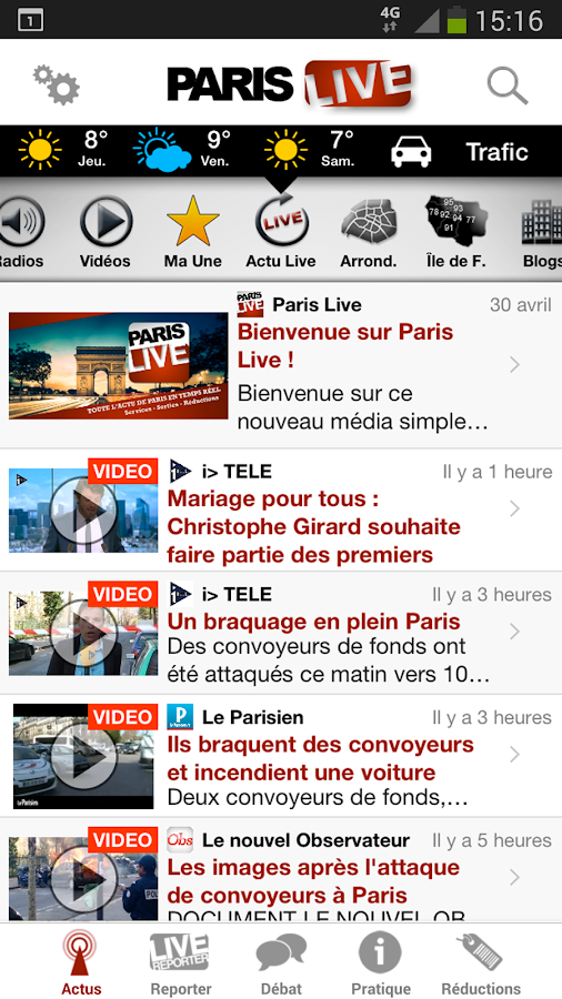 Politique Live- screenshot