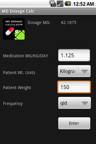 Free Version MD Dosage Calc - screenshot