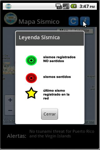 Red Sismica de Puerto Rico - screenshot