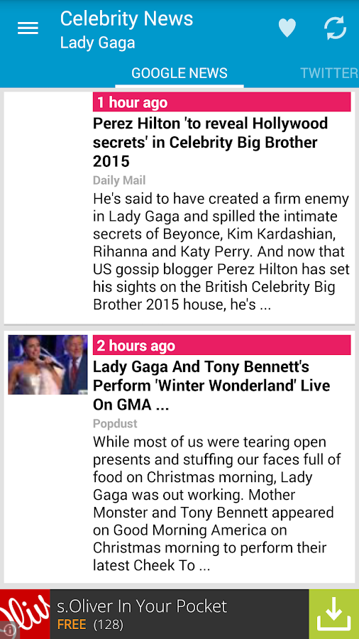 Celebrity News - screenshot