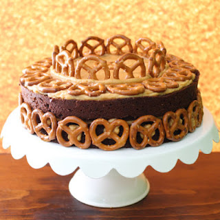 Pretzels, Peanut Butter, and Beer Cake Recipe | #SundaySupper