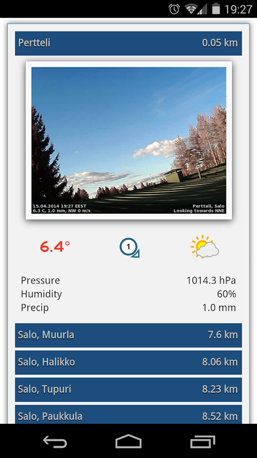 European Weathernetwork (EWN)- screenshot