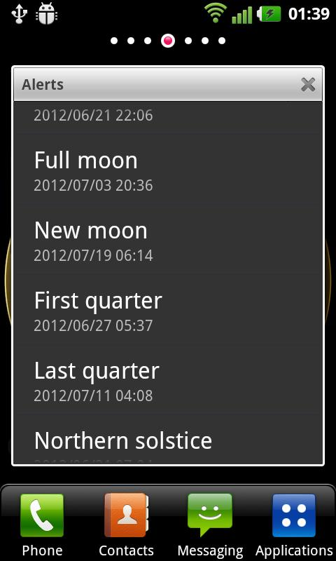 AstroClock - screenshot