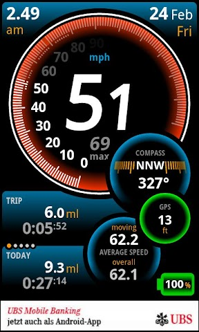 Screenshots for Ulysse Speedometer
