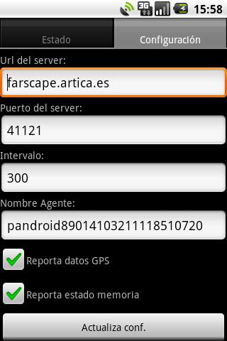 Pandroid: Pandora FMS Agent- screenshot