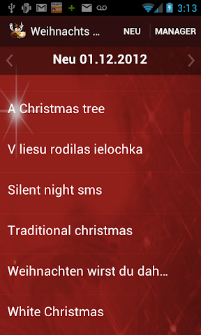 android Weihnachts-Klingeltöne 2015 Screenshot 2