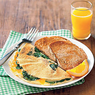 Spinach Omelet and Toast.