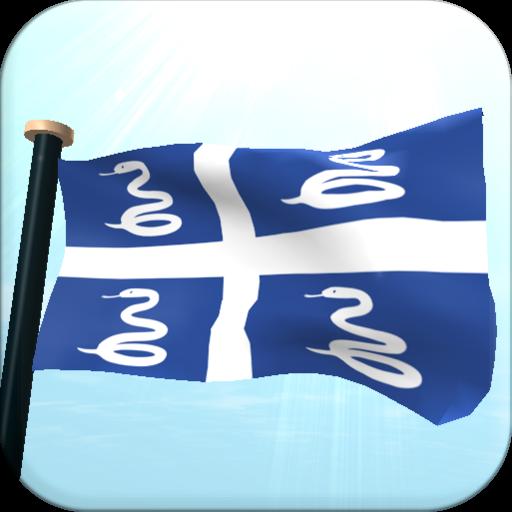 Martinique Flag 3D Free