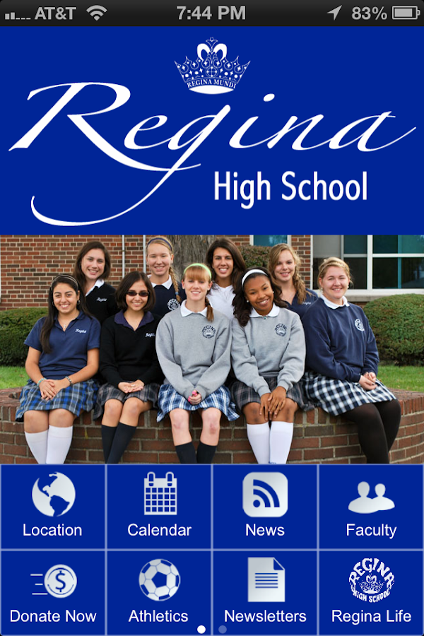Regina High School- screenshot