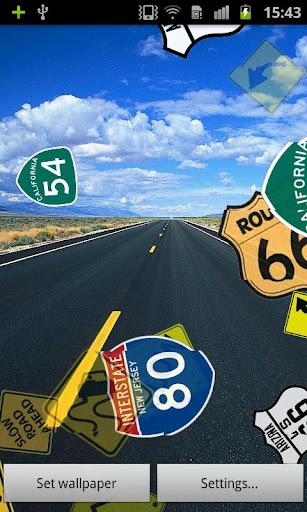 高速道路と道路ライブ壁紙