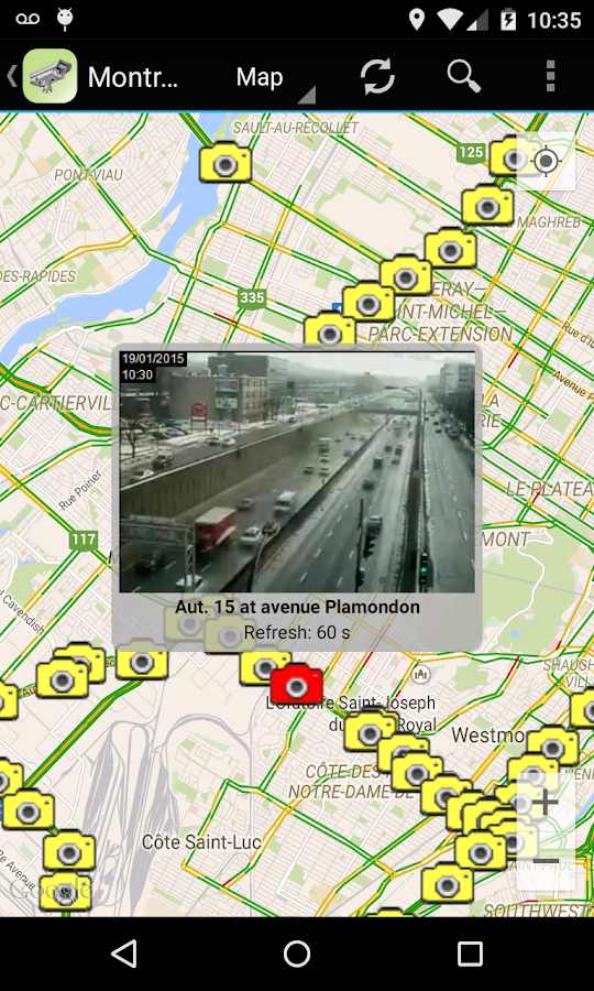 Quebec Traffic Cameras- screenshot