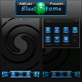 Free Download Blue Chrome Go Launcher EX APK for Samsung