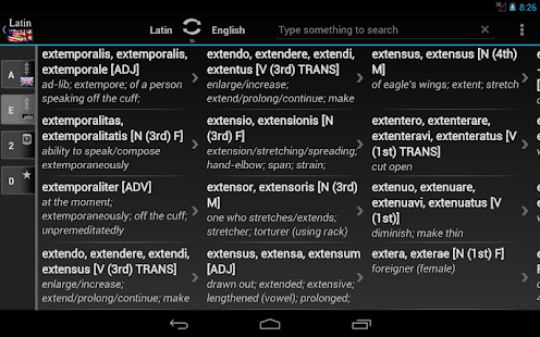 BK Dictionary Latin English - screenshot thumbnail