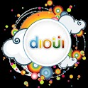 DiOui Facebook Orkut Twitter logo