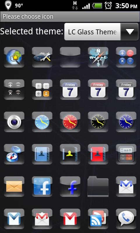 LC Glass Theme Apex/Go/Nova - screenshot