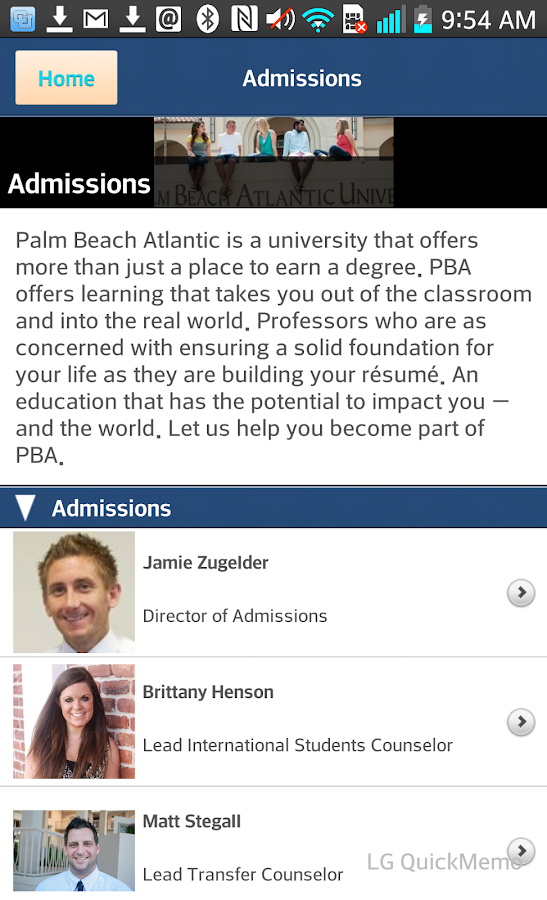 Palm Beach Atlantic University - screenshot