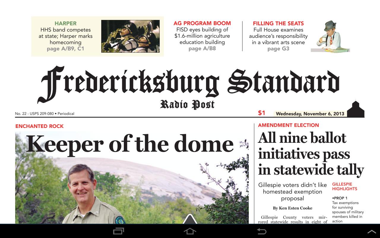 Fredericksburg Standard - screenshot