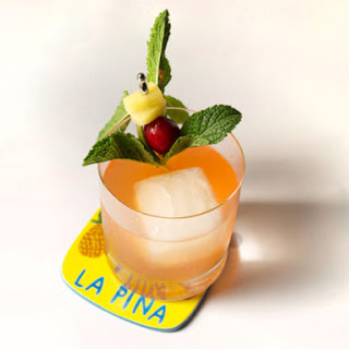 Hazy Sunset (Pineapple-Rum Cocktail With Smoked Ice).