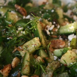 Cool Cucumber Salad with Feta and Walnuts.