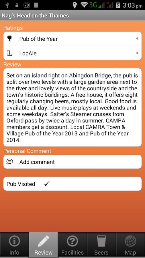 CAMRA Good Beer Guide 2017- screenshot