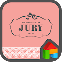 JURY PINK LINE Launcher theme icon