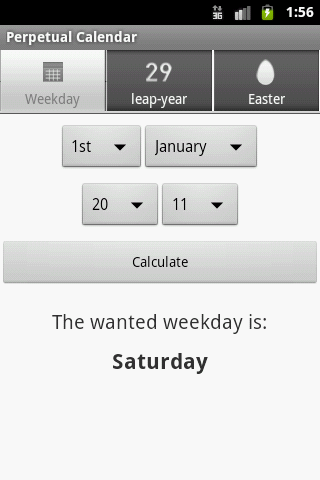 Perpetual Calendar- screenshot