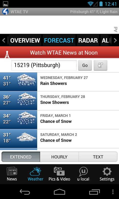 WTAE 4 TV - news and weather - screenshot