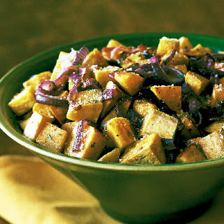 Roasted Sweet Potatoes and Onions with Rosemary and Parmesan