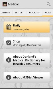 Dorland's Medical Dictionary screenshot for Android